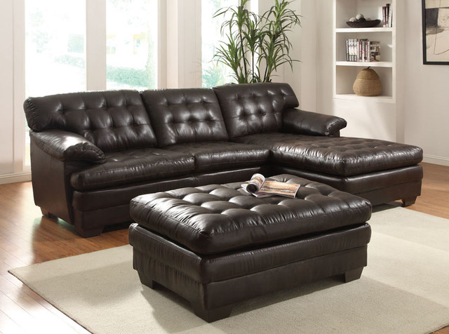 Brown Leather Couch Chaise