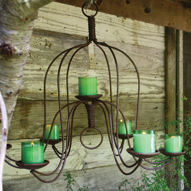 Large Iron Chandelier Eclectic Outdoor Lighting Atlanta By