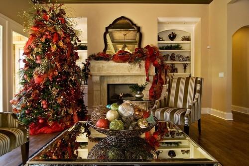 traditional family room design by nashville interior designer brentwood staging design - Designer Christmas Trees