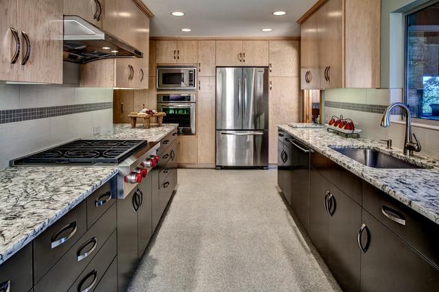 One Wall Galley Kitchen Design