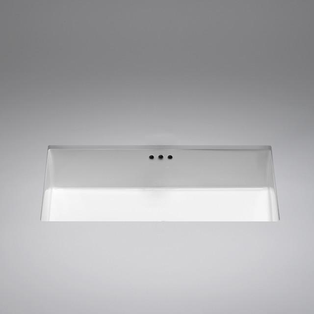 Box Ceramic Undermount Basin Modern Bathroom Sinks