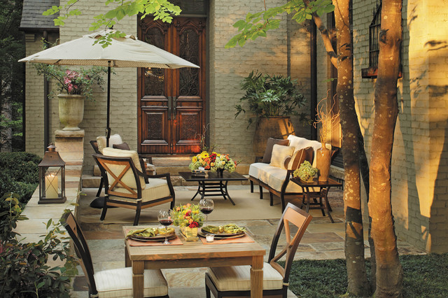 Outdoor Lounge Chairs With Patio Dining Set