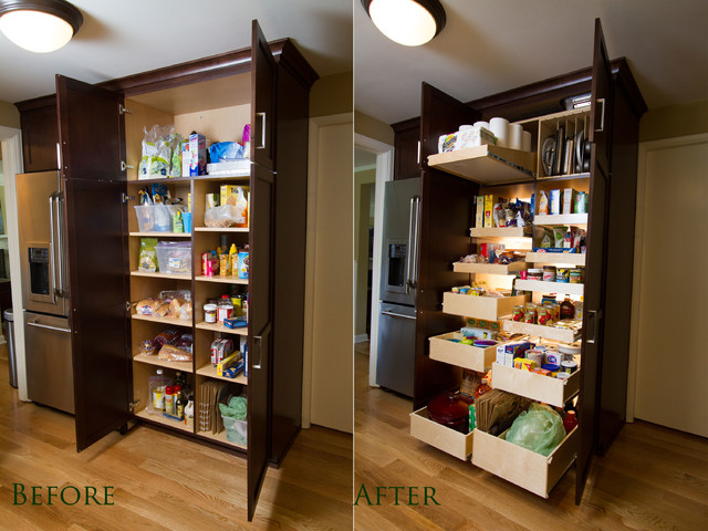 Custom Pantry Pull Out Shelving System
