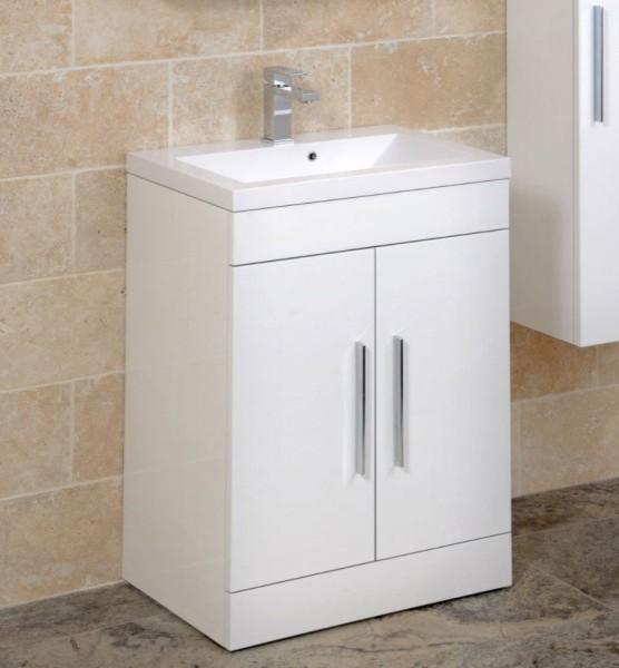 Adiere Vanity Unit White - Contemporary - Bathroom Vanity ...