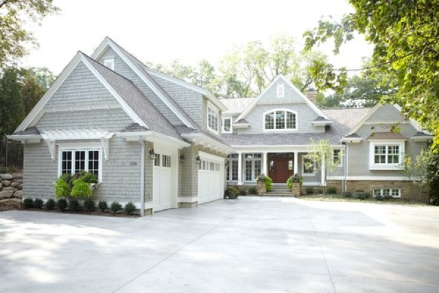 A beautiful lake home color palette evolution of style for Lake house exterior paint colors