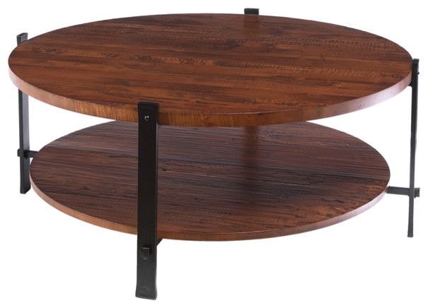Timber Round Cocktail Table By Charleston Forge