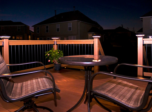 Outdoor deck post lighting. in closet ideas for small spaces ...