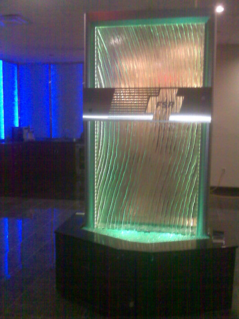 Glass Waterfall With LED At FSR Lakemary Wwwvisualartisannet Modern Indoor Fountains