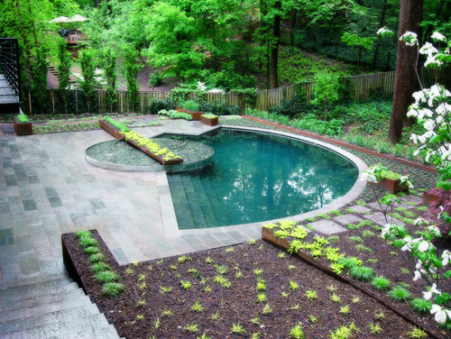 Half-Moon Pool by Lewis Aquatech via Houzz.com