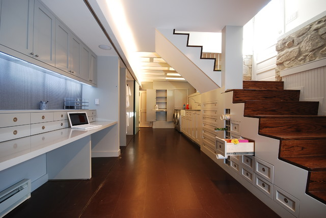 contemporary basement by E/L STUDIO
