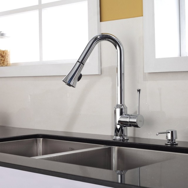 Lever Pull Out Kitchen Faucet Chrome Kpf 1650ch Modern Faucets