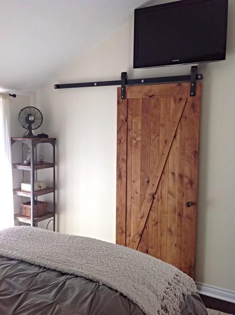 Z Barn Door Rustic Bedroom Salt Lake City By