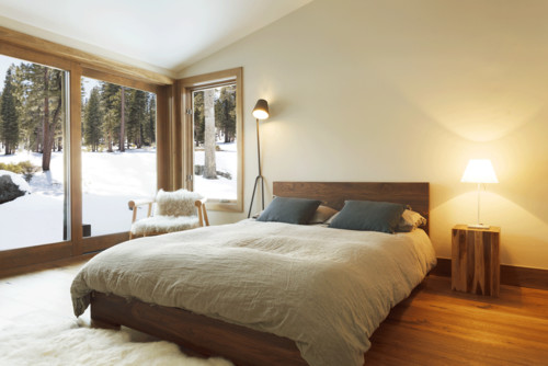RoyaumeStyleDeco, Chalet Tahoe Lake, chambre