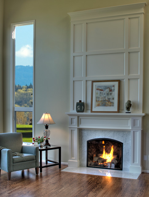 Fireplace Design, Stairwell Design - Traditional - Family ...
