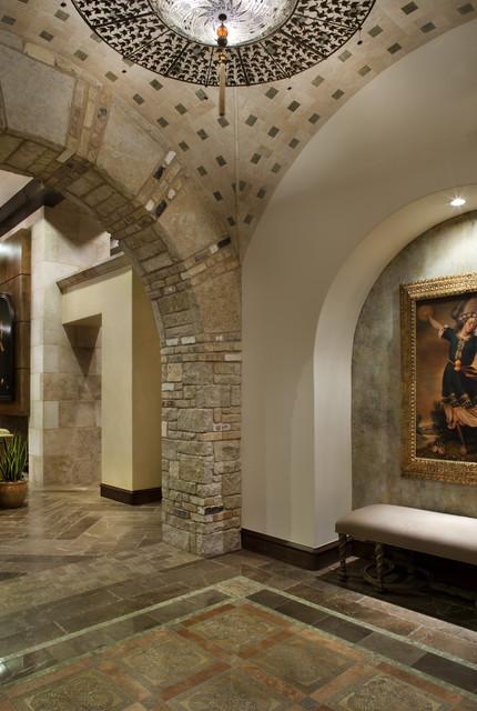 Spanish Oaks Hacienda Mediterranean Entry Austin By JAUREGUI Architecture Interiors
