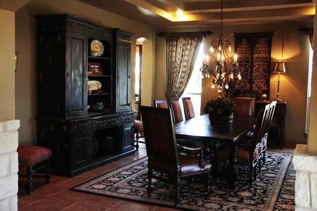 Elegant Old World Dining Room Mediterranean Dining Room Austin By Ren Vinson Interiors