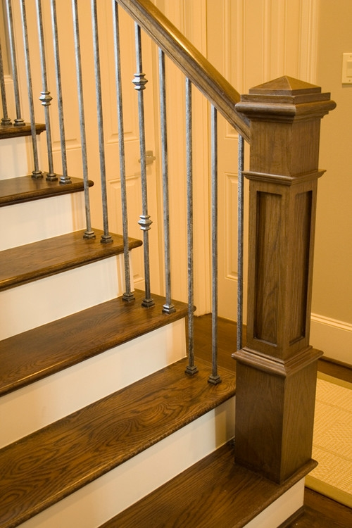 The New Craftsman Style Staircase   Stair Banisters And Railings   Baby Proof   Rustic   Split Level   Pinterest   Landing