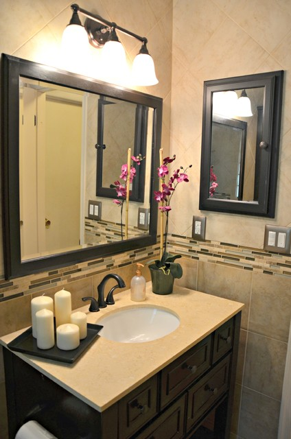 Bathroom With Oil Rubbed Bronze Accents Contemporary