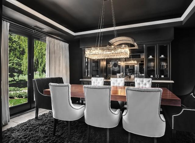 SJC Dramatic Remodel Contemporary Dining Room Orange