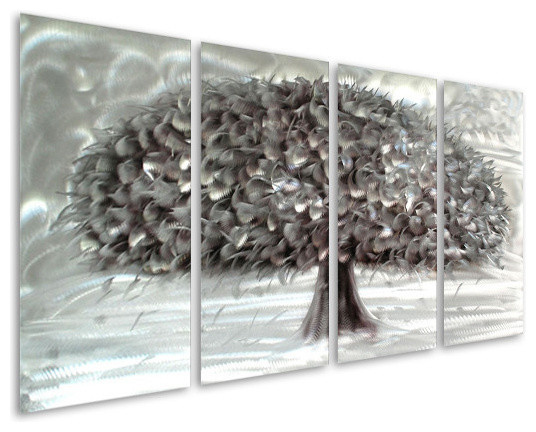 Tree Of Fertility And Abundance Handcrafted Aluminum Wall
