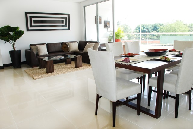 contemporary dining room by FRANCISCO MUÑOZ
