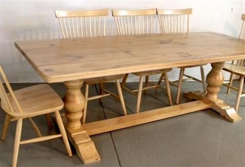 Tuscany Oak Trestle Table Farmhouse Dining Tables Boston By ECustomFinishes