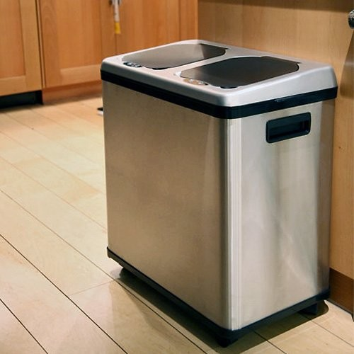 Kitchen Recycle Trash Cans Touchless Trashcan