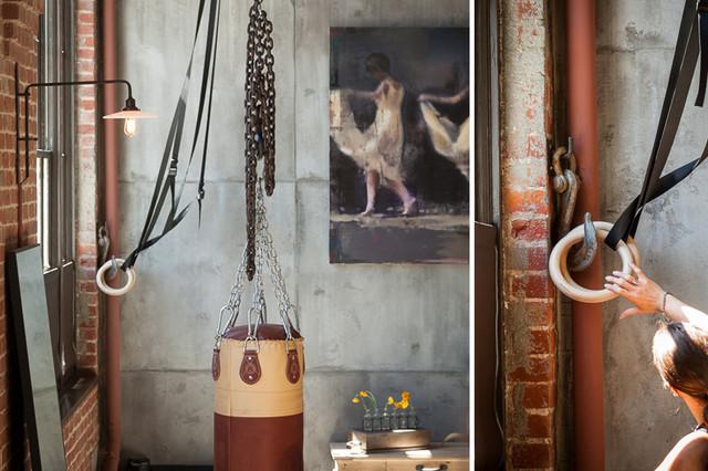 Clocktower Loft Industrial Home Gym San Francisco