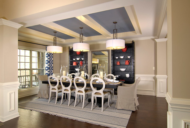 Model Home Transitional Dining Room Charlotte By Shea Homes Charlotte