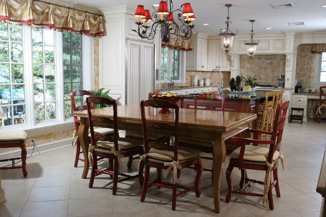 Country Kitchen Traditional Dining Room New York