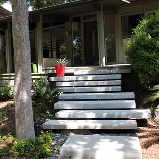 Floating Concrete Stairs Houzz | Floating Concrete Steps Designs | Exterior | Landscape | House | Sidewalk | Cement