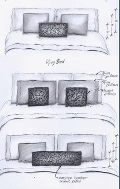 pillow layout for king size bed