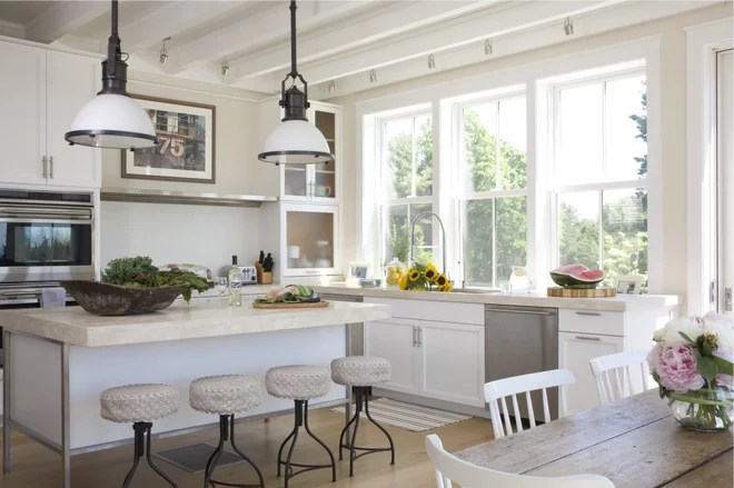 Beach Style Kitchen by Kate Jackson Design