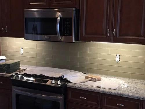 kitchen backsplash grout or no grout