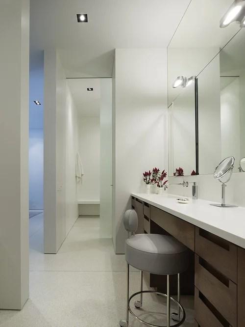 Dual Vanity With Makeup Counter Houzz