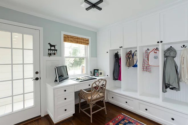 Traditional Home Office by Jim Schmid Photography