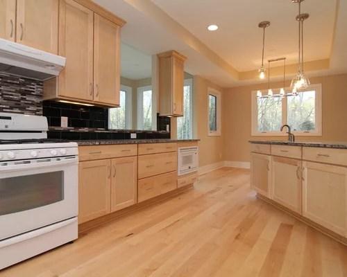 Maple Cabinets White Appliances Home Design Ideas