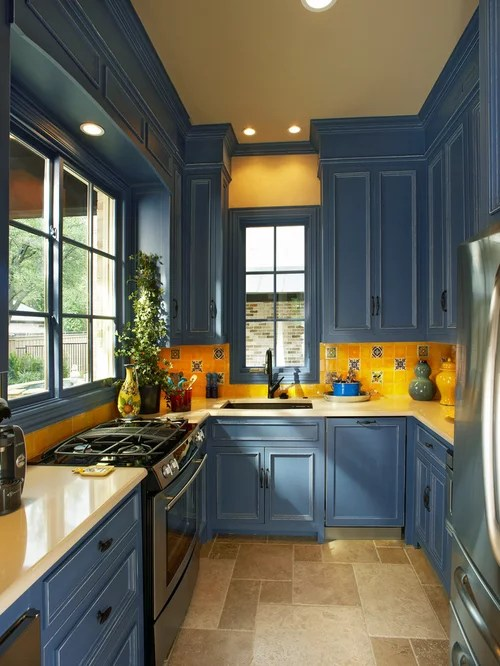 Blue Kitchen Cabinets Home Design Ideas Pictures Remodel And Decor