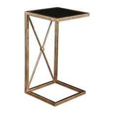 Uttermost 25014 Zafina Gold Side Table