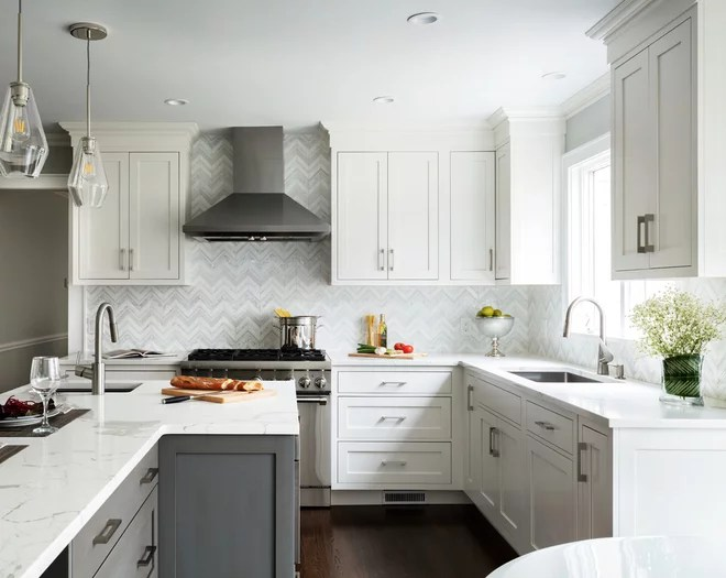 Transitional Kitchen by Karen Berkemeyer Home