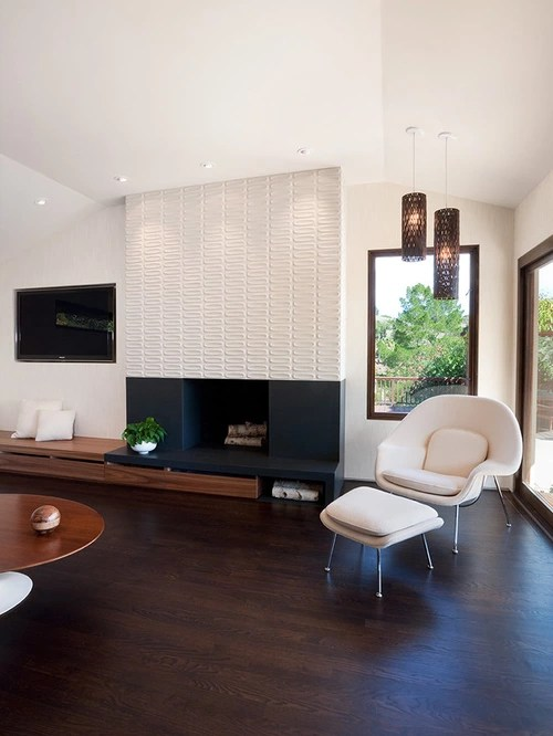 Ceramic Tile Fireplace Surround Houzz
