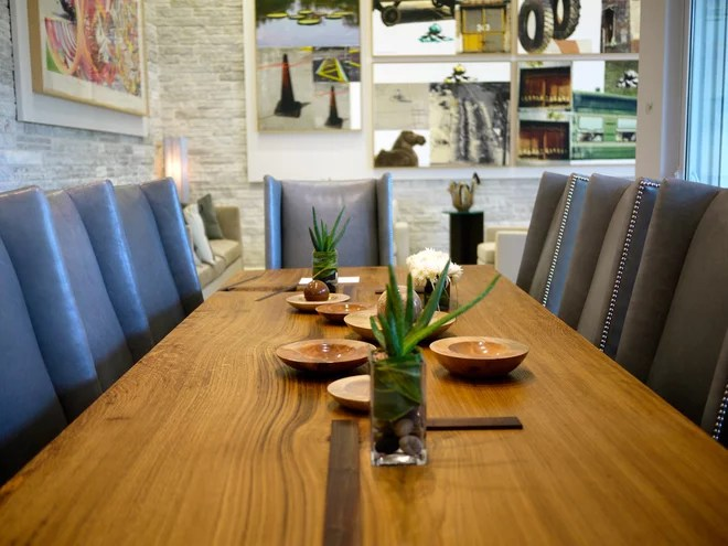 Contemporary Dining Room by Robin Wade Furniture