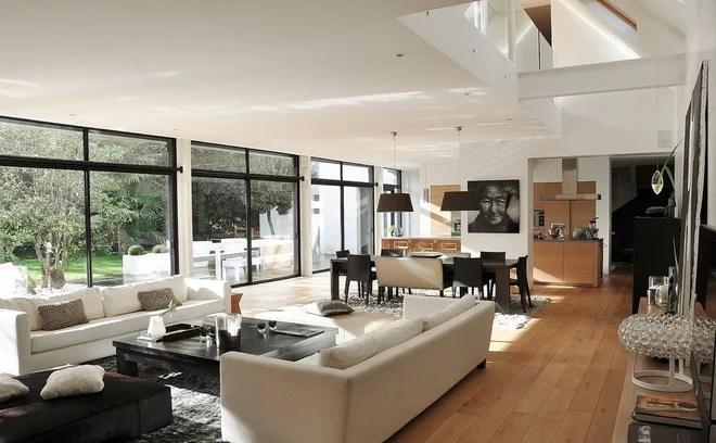 Contemporain Salon by FREDERIQUE SAMSON Architecte d'intérieur