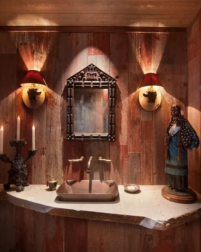 Rustic Powder Room by Ward-Young Architecture & Planning - Truckee, CA