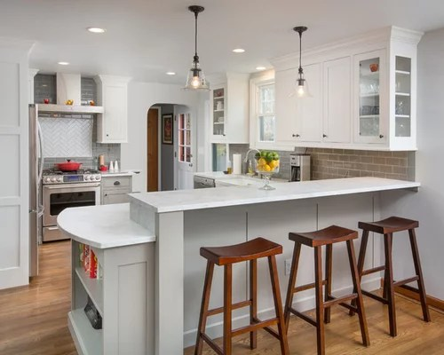 Raised Bar Height Peninsula Home Design Ideas Pictures Remodel And Decor