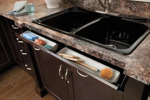 sink tilt out tray pros cons