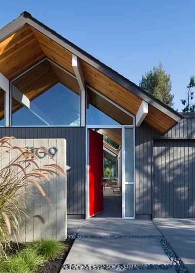 Midcentury Entry by modern house architects
