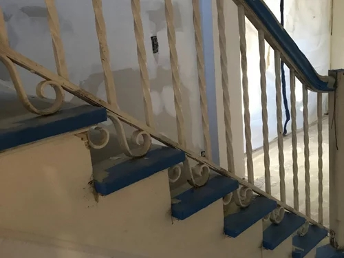 Wrought Iron Interior Stair Spindles Sheen And Color | Wrought Iron Staircase Spindles | Basement Stair | Rot Iron | Outdoor | Wooden French Country Newel Post | Foyer