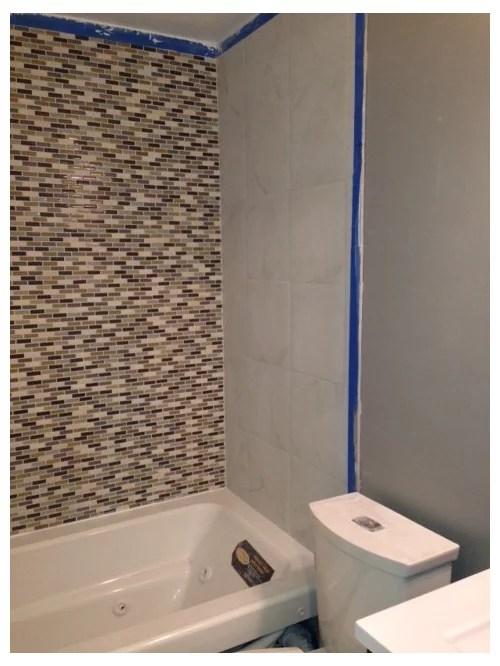shower glass door or shower curtain