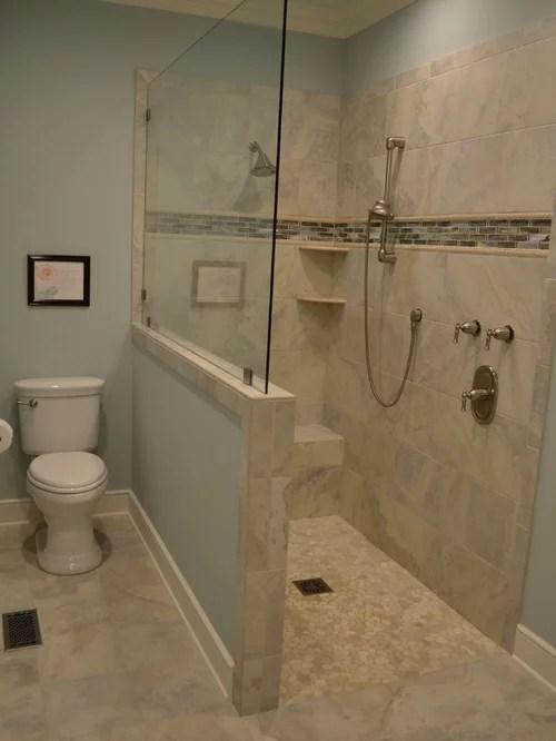 Badezimmer Landhausstil Dusche Wohndesign